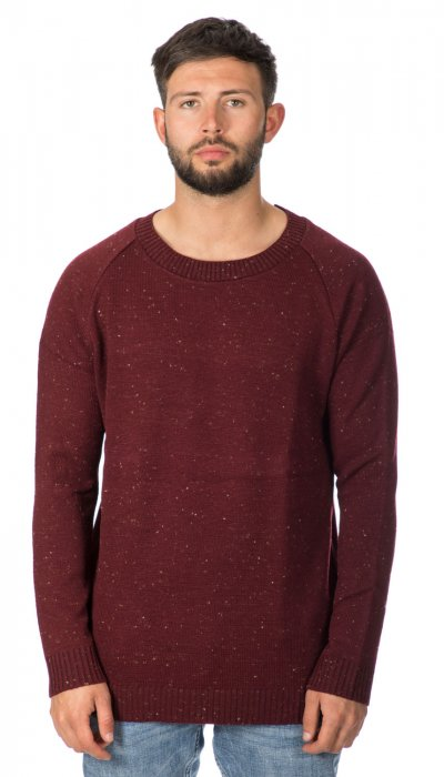 Burgundy fleck soft touch knitted sweater